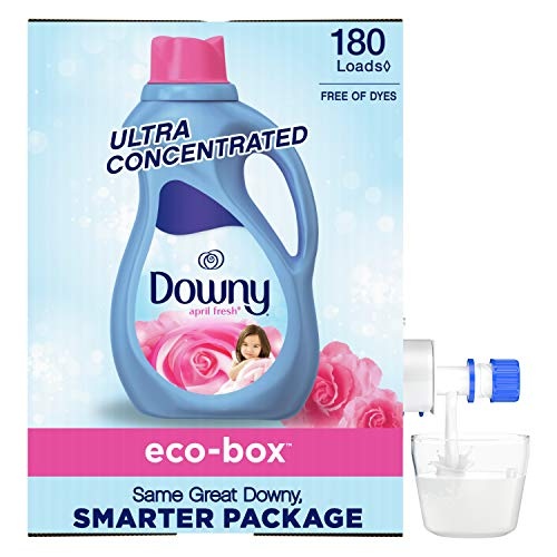 Downy April Fresh Scent, Free of Dyes, Ultra Concentrated, Fabric Softener...