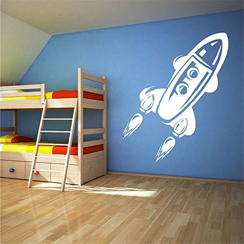 Wandaufkleber Kinderzimmer wandaufkleber 3d Rocket Childrens Toy Space Ship Wall Art Sticker Decal for living room bedroom nursery kids bedroom