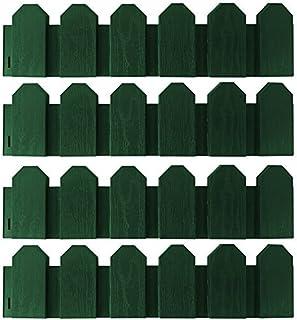 PROHEIM Set de Bordes delimitadores de césped Flexibles de 2,4 Metros Resistente a la Intemperie - Valla limitadora de jardín de Polipropileno 15 cm Alto, Color:Verde