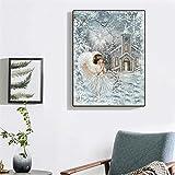 JRGGPO Kit de Pintura de Diamante 5D DIY Pintura Ángel Rhinestone Kit Hecho a Mano Imagen artística Regalo de San Valentín 40x50cm