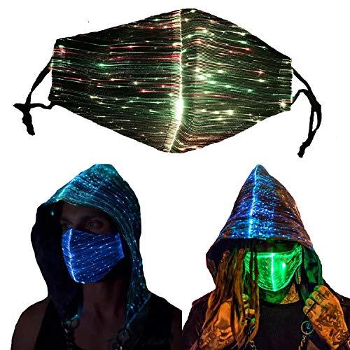 Sprening LED-Maske , 7 Farben und 4 Blitzmodi Halloween LED Leuchten Maske für Erwachsene Kind, Partei, Weihnachten, Karneval und Kostüm-Partei led Maske
