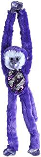 Wild Republic Sequin Monkey Plush, Stuffed Animal, Sensory Plush Toy, Gifts for Kids, Green, 22 inches, Purple