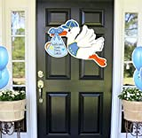 Cute News Welcome Home Baby Boy Sign, Stork Decoration Signs, Its a Boy Announcement Card, Shower Door Hanger, Hospital Newborn Wreath, Custom Baby Banner Gift