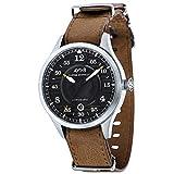 avi-8 homme uhr analogique automatique mit cuir armband av-4046-01
