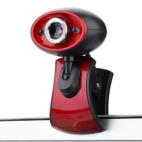 Richer-R HD Webcam, Hochauflösend 1080P HD USB 2.0 PC Webcam 2 LED Nachtsicht Web Cam,Plug-and-Play USB Webkamera Videoaufzeichnung mit Mikrofon für Netmeeting ICQ MSN Yahoo Messenger Skype