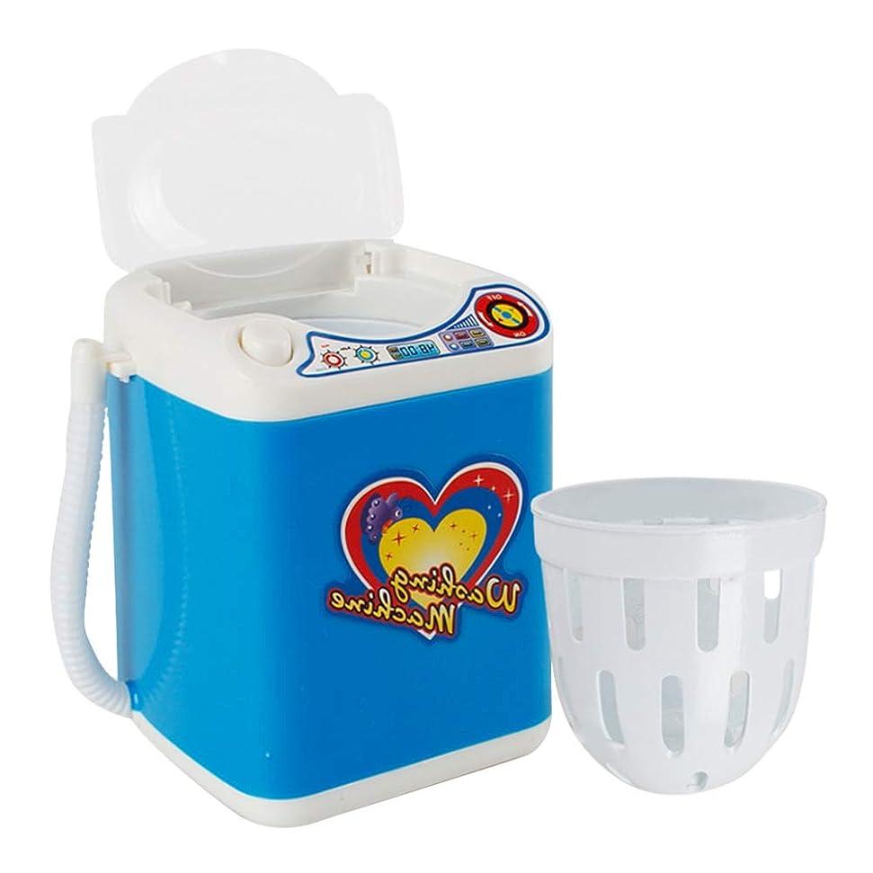スポーツ同様の増強メイクアップブラシクリーナースピナーマシン - 電子ミニ洗濯機形状自動化粧ブラシクリーナー乾燥ブラシ、スポンジとパウダーパフのためのディープクリーニング(青)
