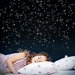 Sternenhimmel für die Decke oder eine schräge Wand im Kinderzimmer
