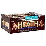 HEATH Milk Chocolate English Toffee Candy, Bulk, 1.4 Oz. Bars (18 Count)