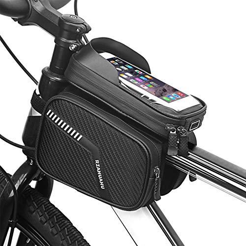 Roeam Bolsa de Movil Bicicleta Manillar, Bolsa Bici con Soporte para Telefono Móvil, Bolso Bicicleta Impermeable y con Ventana,para Teléfono Inteligente por Debajo de 7,2 Pulgadas