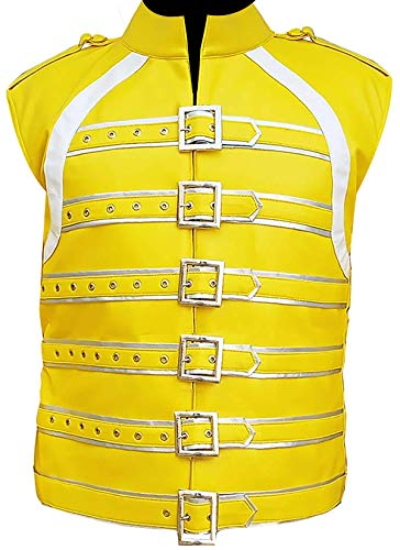 EU Fashions Freddie Mercury Leather Yellow Vest