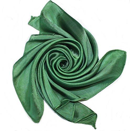 YSS Nickituch/Seidentuch 1 A Qualität unifarben Made in Thailand (tannengrün)