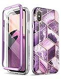 i-Blason Cosmo Full-Body Glitter Bumper Case for iPhone Xs (2018) / iPhone X Case (2017), Ameth, 5.8'