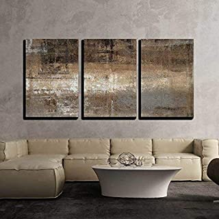 wall26 - Grey and Brown Painting - Canvas Art Wall Decor - 24