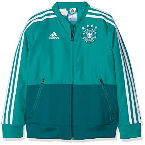adidas Kinder DFB Präsentationsjacke, EQT Green/Real Teal/White, 164