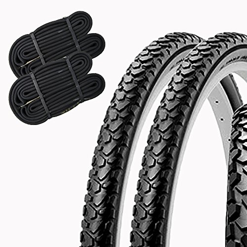 SHINKO(シンコー) 自転車 タイヤ 26インチ チューブ セット ペア巻き SR046 26×1.75 HE (ブラック)