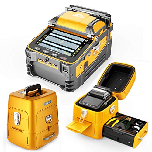 Qiirun Fusion Splicer AI-9 Toolbox Kit with Auto Focus and 6 Motors for Trunk Line Construction, FTTH and Cable Splicing...