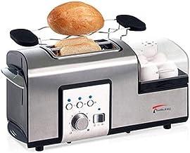 محمصة خبز TWDYC، محامص الخبز من الفولاذ المقاوم للصدأ مع رف للتدفئة أفضل تصنيف، فتحات واسعة جدًا، وظيفة إذابة الجليد / إعا...