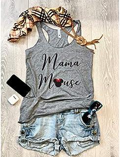Mama Mouse. Women's Eco Tri-Blend Tanks. Women Clothing. Disney Tank Top. Disney Gift Triblend Tank. Gift Shirt. Happy Shirt.