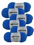 Bernat Blanket Brights Yarn-6/Pk, Royal Blue 6 Pack