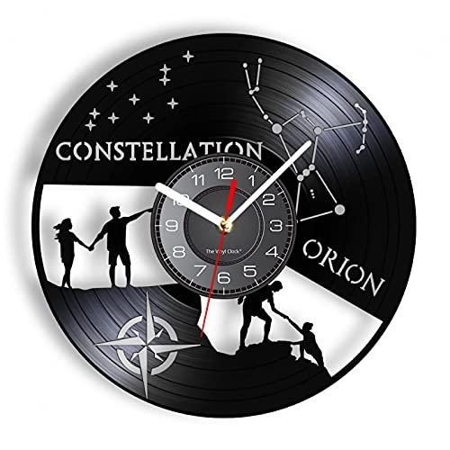 Reloj de Pared de Vinilo, Reloj de Pared, Cielo, Estrellas, Constelaciones, astronomía, Arte de la Sala de Estar, decoración del hogar Inspirada en Las Constelaciones