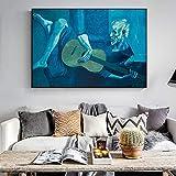 wZUN Antiguo Guitarrista Impresiones de Pintura al óleo sobre Lienzo reproducción de Obras de Arte de fama Mundial Imagen de Arte de Pared para el hogar 60x80 Sin Marco