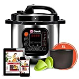 Geek Robocook Automatic 8 Litre Electric Pressure Cooker with 11 in 1 Function