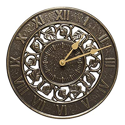 Whitehall Products Ivy Silhouette Clock French Bronze