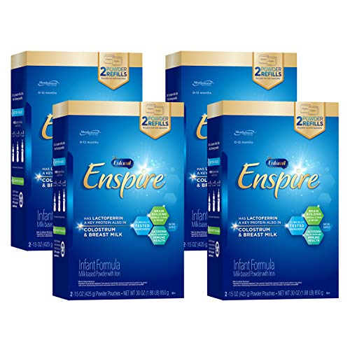 Enfamil Enspire Infant Formula with Immune-Supporting Lactoferrin, Brain Building DHA, Our Closest Formula to Breast Milk, Refill Boxes, 30 Oz (Pack of 4)