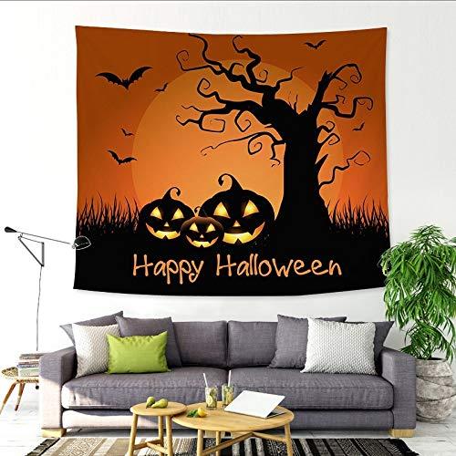 nobranded Halloween lustige Stoff Hintergrund Wandteppich Halloween Schule Dekoration Stoff Wandteppich Wandbehang