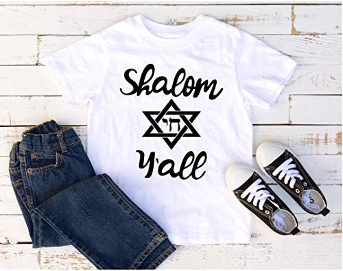 SHALOM Y'ALL Toddler shirt | Jewish Shirts | Hanukkah Graphic Tee | Hanukkah gifts | Star of David Holiday Shirts