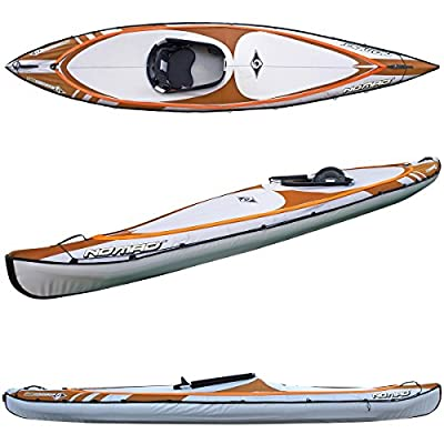 Y1007 BIC Sport NOMAD HP1 Inflatable Kayak, Orange/Grey, 14-Feet 5 x 31.5-Inch x 440-Pound Capacity by Bic Sport