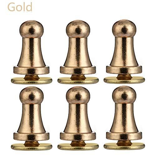 CHENTAOCS 10PCS Runde Kupfer Glatter Mönch Kopfschrauben Garment Nieten Kleidung/Beutel/Schuhe Leder Craft Nippel Knöpfe Zu (Farbe : Gold, Größe : 6X4mm)