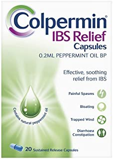 Colpermin Peppermint Oil Capsules 100 Capsules for Irritable Bowel Syndrome by Colpermin
