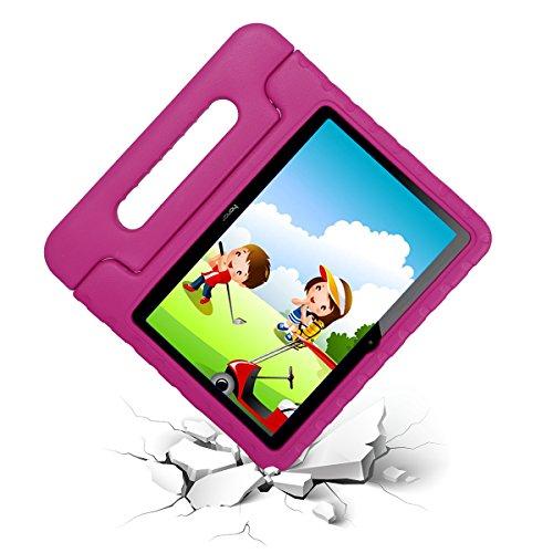 cradle HR Funda Protectora para Huawei MediaPad T3 10 de Pulgadas y Huawei Honor Play Pad 2 de 9.6 Pulgadas, Funda Protectora Ligera de EVA a Prueba de Golpes con Soporte (Magenta)
