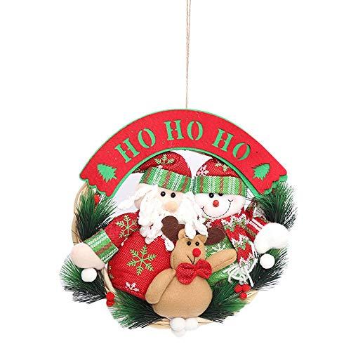 TOPmountain Kawaii Natale Porta Natale Santa Claus Party Snowman Party Albero di Natale Ornamento di Decorazione appesa