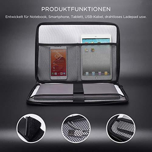 NIDOO 10 Zoll Tablet-Tasche Eva Aktentasche Laptop Tasche Handtasche Hülle Sleeve für 10.2
