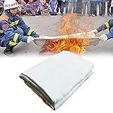 Panel ignífugo de fibra de vidrio de cobertura ignífuga y térmica, resistente, puede ser utilizado para estufa de madera. blanco
