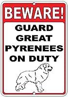 注意してください! 義務のおかしい引用アルミニウム金属記号でグレートピレネーを守ります