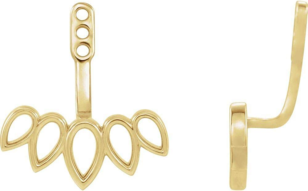 Earring Jackets (Width = 13.6mm)