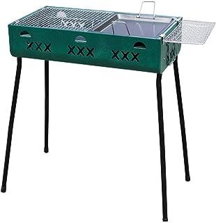 WSJ - Barbacoa de barbacoa plegable portátil para exterior, barbacoa de carbón vegetal para barbacoa (para 5 personas o más), color verde