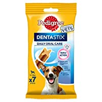 DentaStix Daily Oral Care dental chews for dogs are scientifically proven to reduce tartar build up by up to 80 Percent when fed daily; Pedigree daily dental sticks promote oral health The combination of a special texture and active ingredients in th...