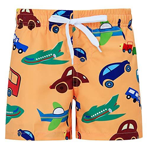 Idgreatim - Bañador para niños (Secado rápido, Impermeable, para Adolescentes, Surf, Playa, Cordones, Cintura elástica con Forro de Malla, 4-14 años)
