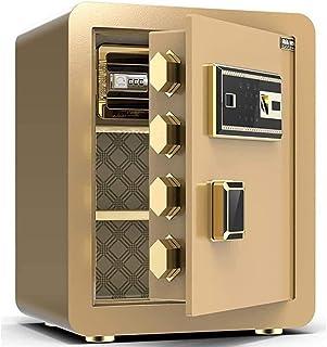Electronic Steel Fireproof Lock Box Security Safe Cash Box, Cabinet Safe with Fingerprint Digital Keypad Safety Key Lock f...