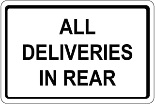 All Deliveries in Rear OSHA SignVinyl Sticker Decal 8