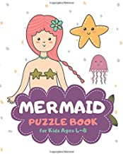 Mermaid Puzzle Book for Kids Ages 4-8: Party Theme A Fun Kid Workbook Game for Learning, Coloring, Mazes, Sudoku and More! Best Holiday and Birthday Gift Idea