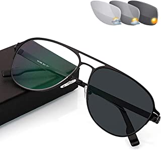 7d406aa782 Eyetary Gafas de Lectura con fotocromático, Lente bifocal de asférica  lectores de Gafas de Sol