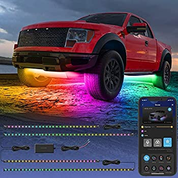 Govee Smart Exterior Car Lights RGBIC Underglow Car Lights with 16 Million Colors 2 Music Modes 10 Scene Modes DIY Mode App and Remote Control Car LED Lights for SUVs Trucks