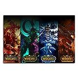 Trelemek World of Warcraft - Póster impreso para pared (61 x 40 cm), diseño de cataclismo y la cruzada ardiente y la ira del Lich King y la cruzada ardiente