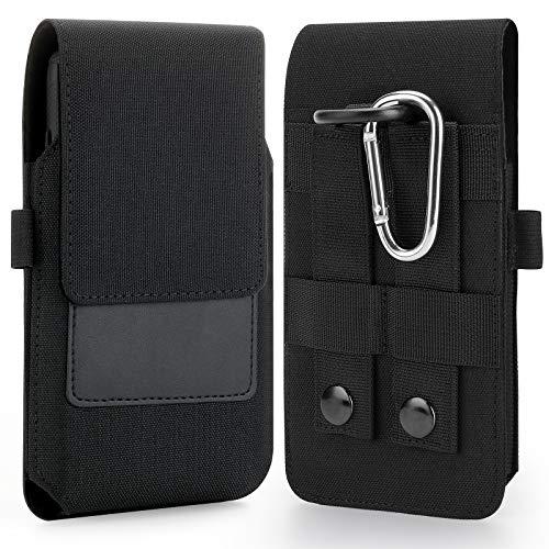 BECPLT Molle Handyholster für iPhone 12 Pro Max Xs Max 8 Plus 7 Plus 6S Plus Samsung Galaxy A51 A71 A72 A52 A11 A12 Note 8 9 Note10 Lite S21+ S20 Plus Nylon Gürtelclip Tasche Halter Tasche