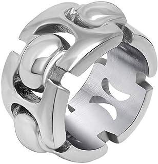 Anello Uomo Titanio Fascia Intrecciata per Coppie Ogni Giorno, WLG, acciaio, taglia 7